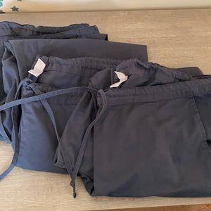 B1 Team 3 Pairs of Grey / Gray Scrub 2 XL
